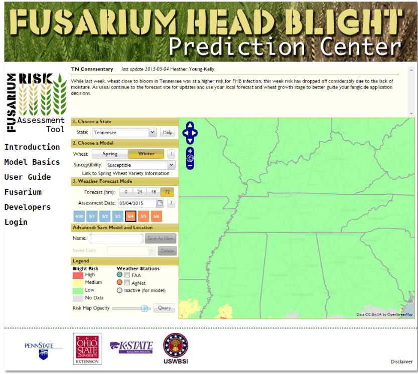 Wheat Disease Update - Fusarium Head Blight Forecast - UT ... on